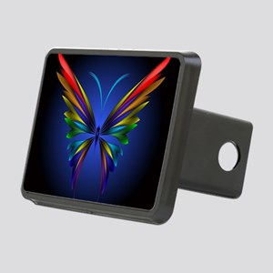 Abstract Butterfly Rectangular Hitch Cover
